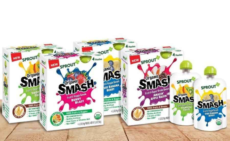 Sprout Organic SMASH pouch snack