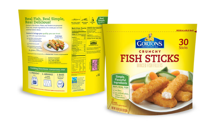 Gorton 39 s seafood moves to fewer ingredients 2015 11 13 for Gortons fish sticks