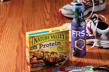 Protein bars and drinks
