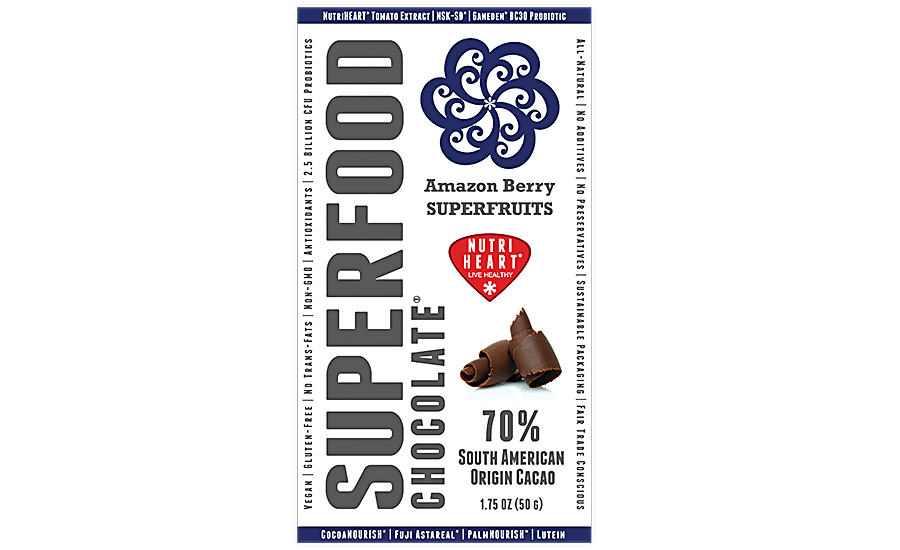 Dark chocolate contains heart-healthy ingredients