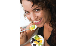 Both fruit and yogurt are heart healthy foods