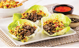 Small plates, such as these Thai Style Lettuce Wraps, thrive on restaurant menus