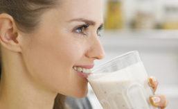 Girl drinking nutritional shake