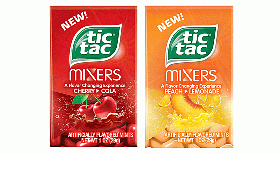 Ferrero USA's new Tic Tac Mixers change flavor during consumption