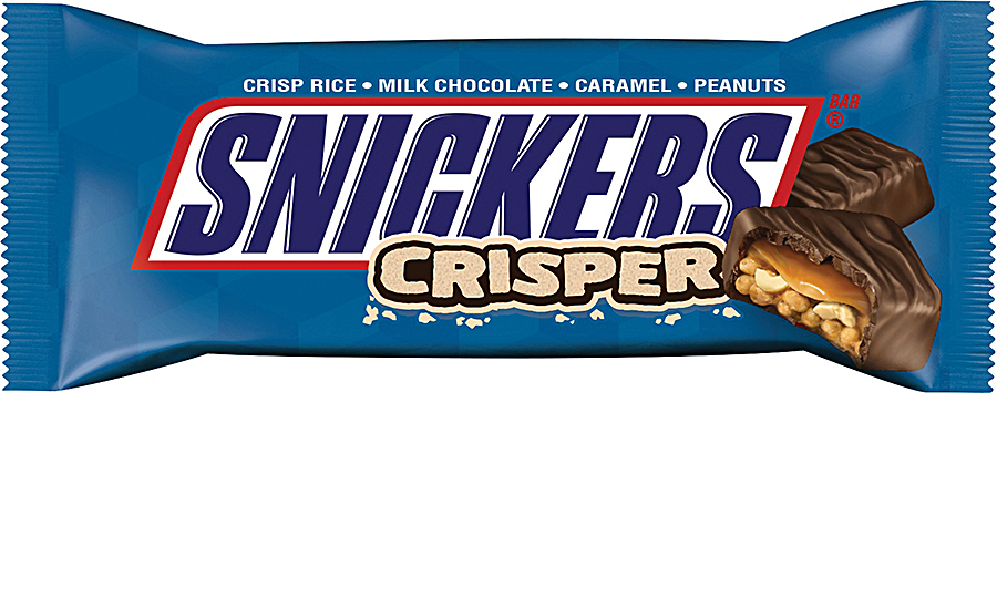 Mars' new SNICKERS Crisper includes two squares with fewer than 100 calories each