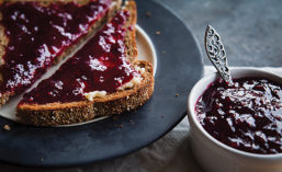 Toast with jelly
