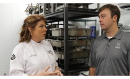 Jennifer Madewell of KFB Events and Justin Davis of Tyson Foodservice Insights & Innovation