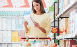 Shopper Reading Food Label