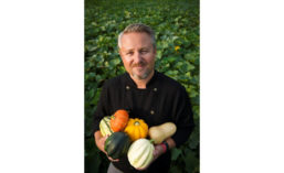 Chef Rob Corliss Holding Squash