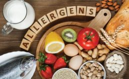 Letter Blocks Spell Out Allergens Placed Above Major Food Allergens