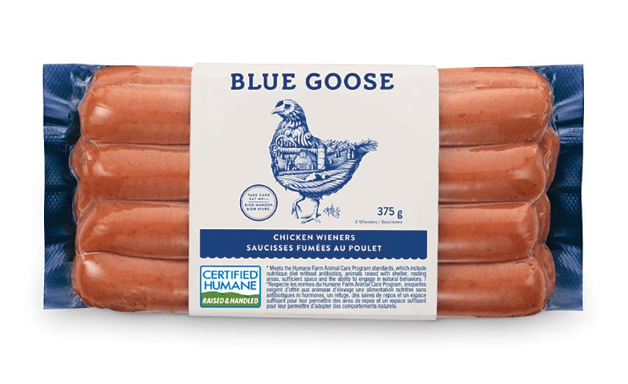 Blue Goose chicken wieners