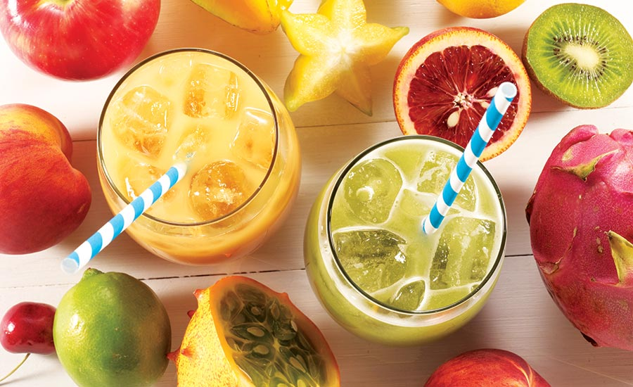 Fruit and fruit-based beverage formulations