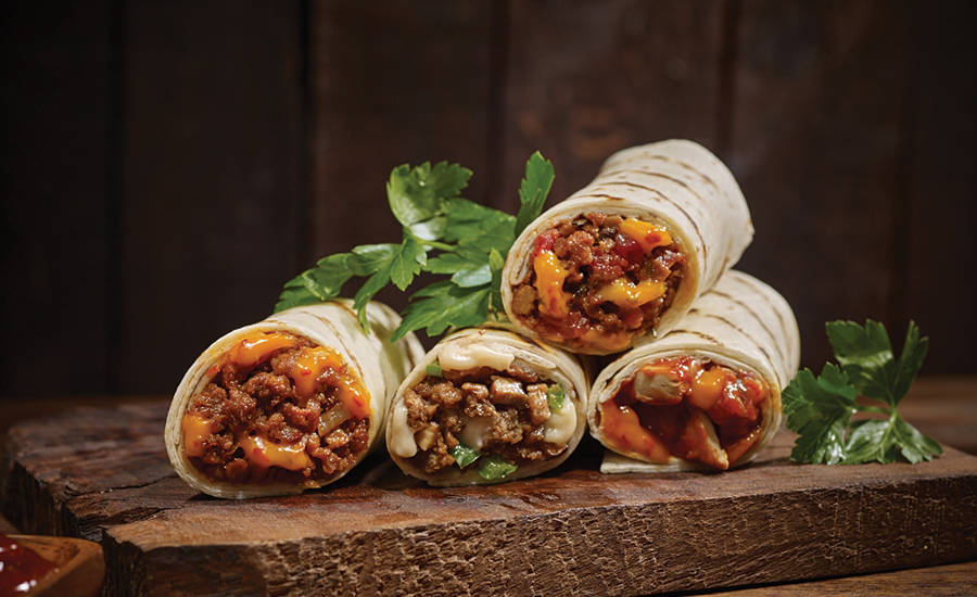 Burritos Made with Meat Analogs