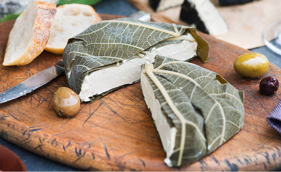 Vegan Cheese Wrapped in Fig Leaves