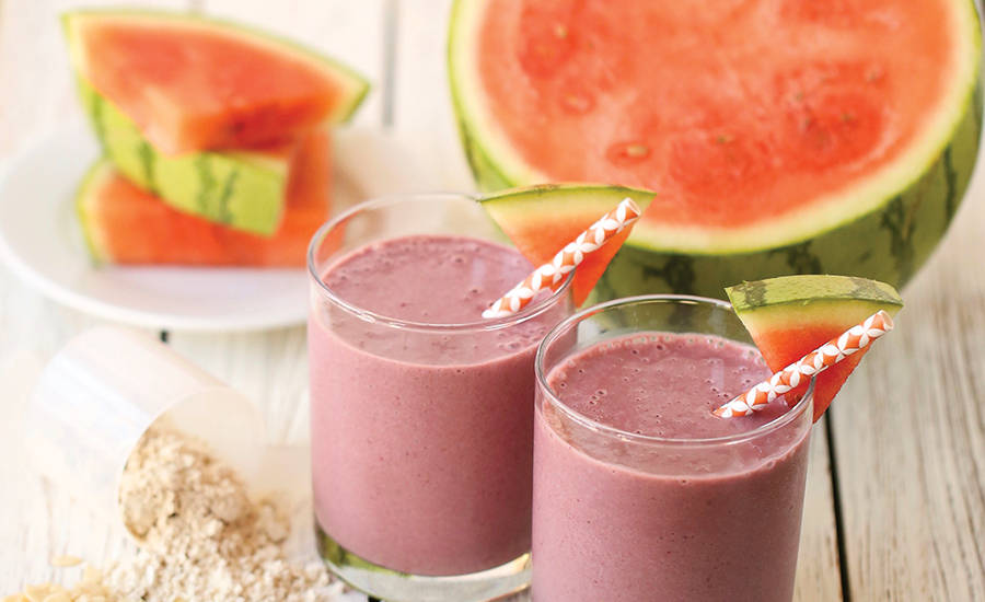Smoothies Made with Proteins Derived from Watermelon Seeds