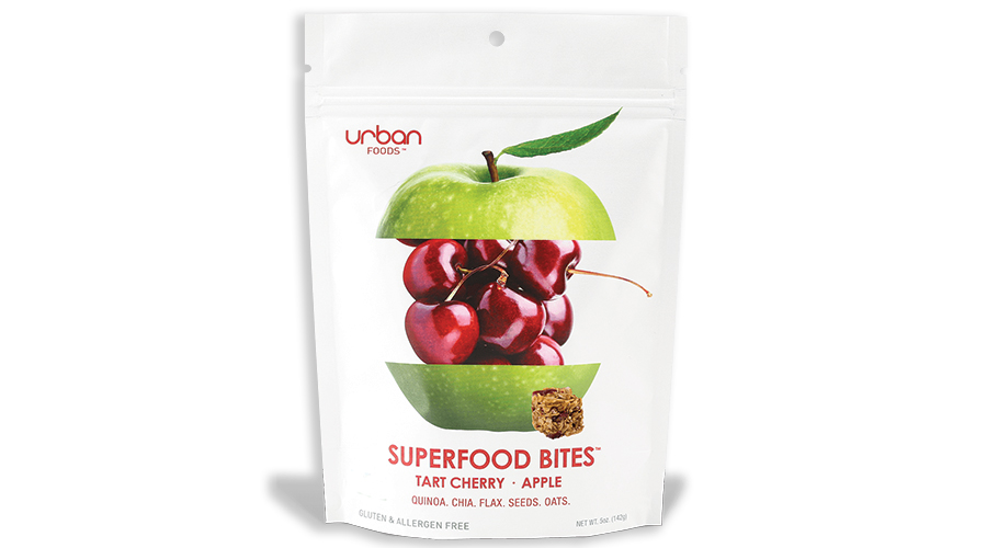 Tart Cherry and Apple Superfood Bites Made with Ancient Grains