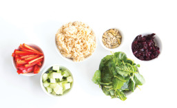 Sweet and Savory Asian Rice Bowl Ingredients