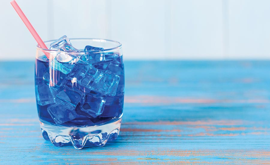 Blue Colored Beverage