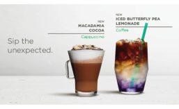 Starbucks Macadamia Cocoa and Iced Butterfly Pea Lemonade