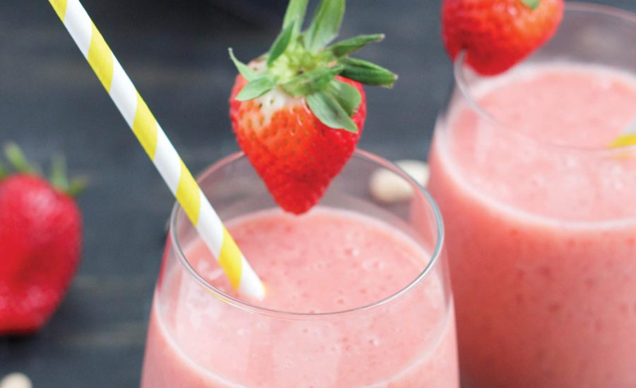 Strawberry Smoothie Formulated with Beans