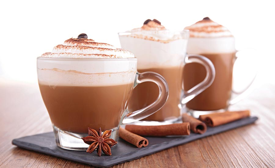 Hot Beverages Topped with Cinnamon