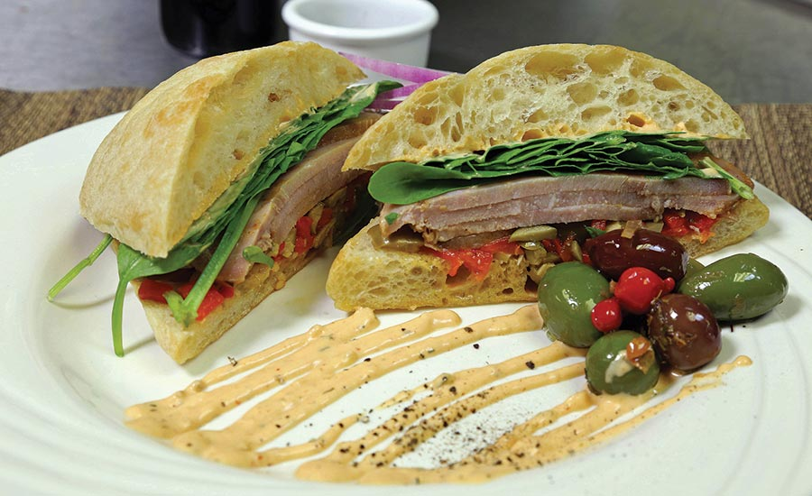 Cajun Sandwich with Chicken of the Sea Yellowfin Tuna Slices