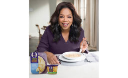Oprah Winfrey with a Bowl of Her O, That's Good Soup