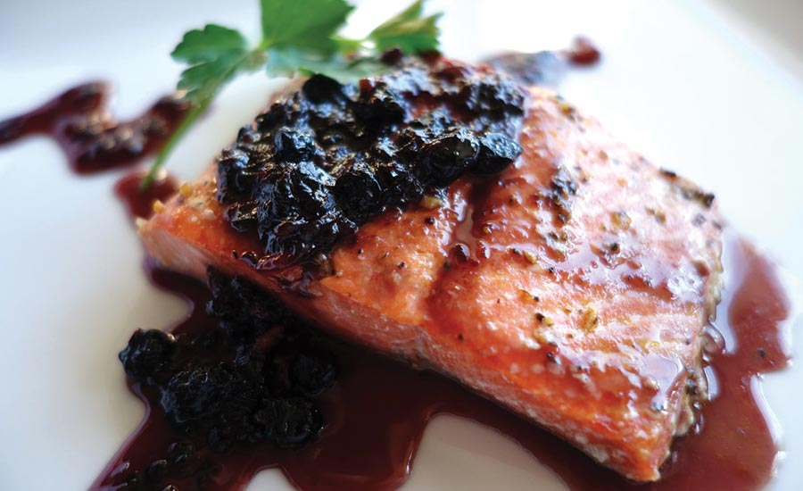 Salmon with Aronia Berry Sauce
