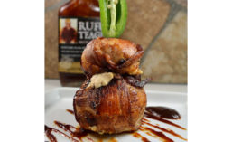 Chicken Bombs Coated in Rufus Teague BBQ Sauce
