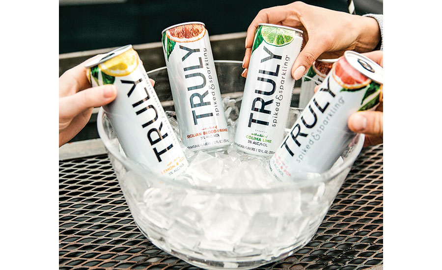 Cans of Truly Hard Seltzer