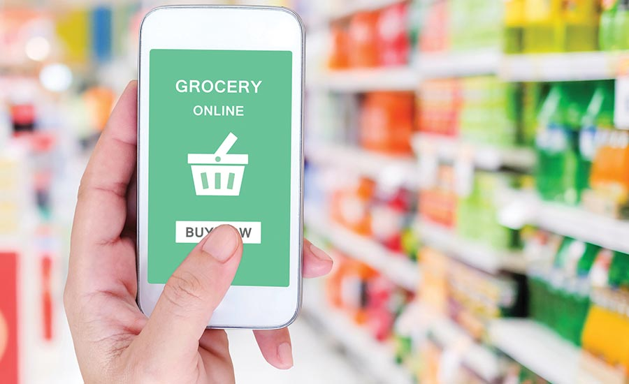 Online Grocery Shopping on Phone