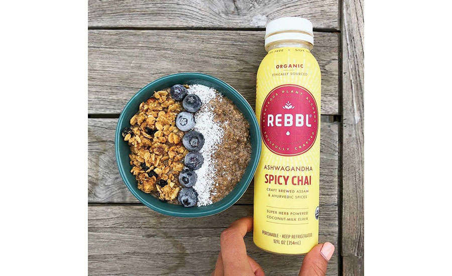 Rebbl Spicy Chai Next to Bowl