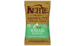 Kettle Brand Krinkle Cut Potato Chips Wasabi Ranch Flavor