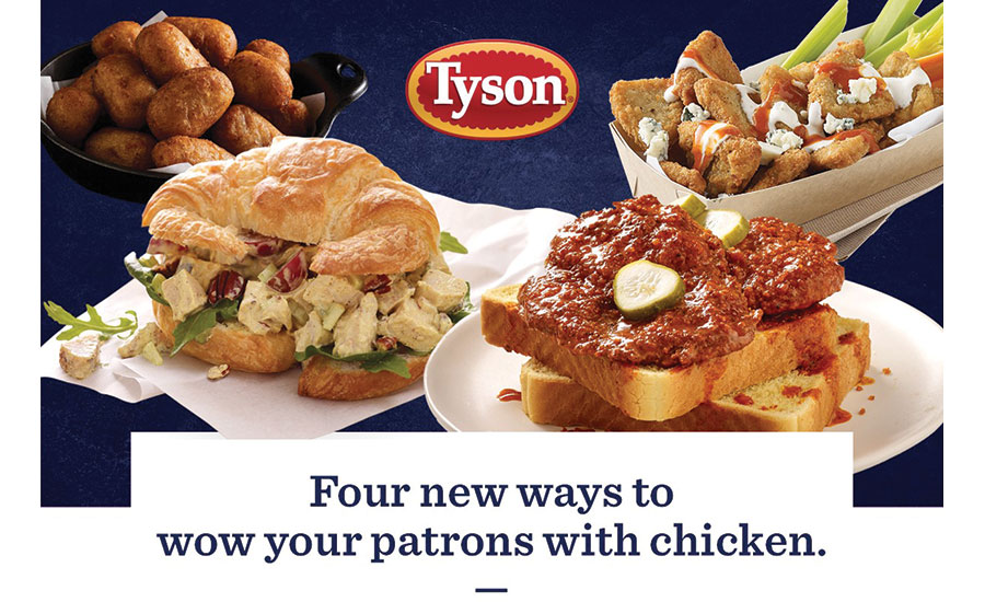 Tyson Foodservice Four New Chicken Offering