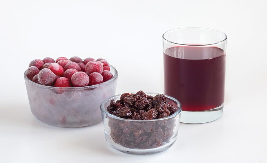 Frozen, Dried, and Juiced Cherries