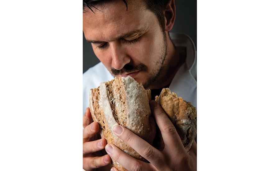 Man Sniffing Bread