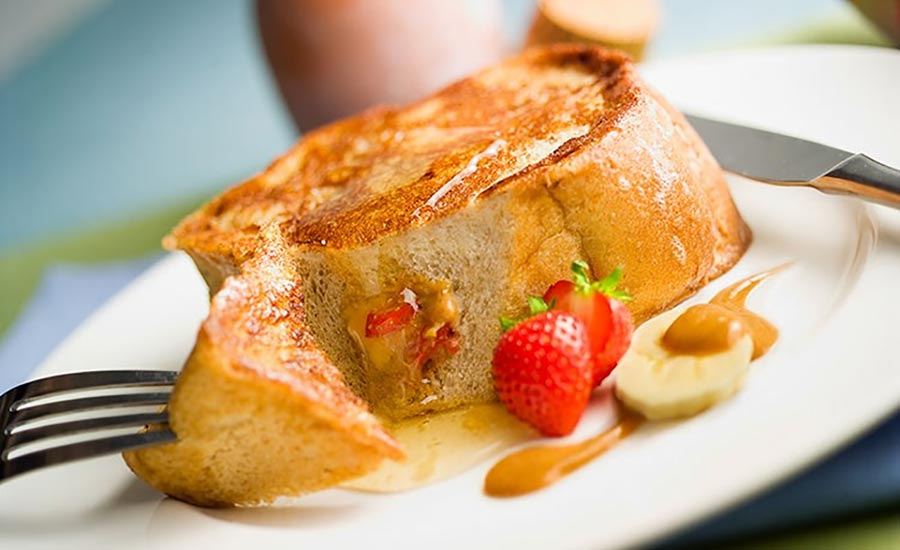Banana Strawberry Peanut Butter French Toast