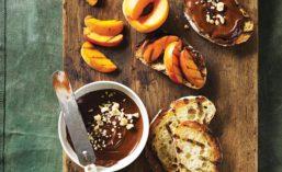 Peach and Nutella Bruschetta