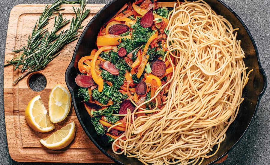 Spaghetti Made from Chickpea Flour