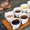 Cups of Hot Beverages on Tray