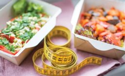 Tape Measure and Healthy Foods
