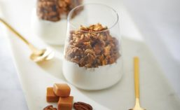 Caramel Pecan Granola and Yogurt