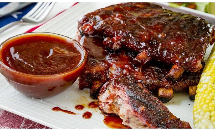 Ribs with Bourbon BBQ Sauce