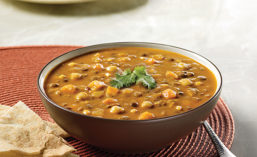 Healthy lentils are found in Blount Organics Lentil & Chickpea Soup from Blount Fine Foods
