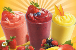 frozen fruit drink, smoothies
