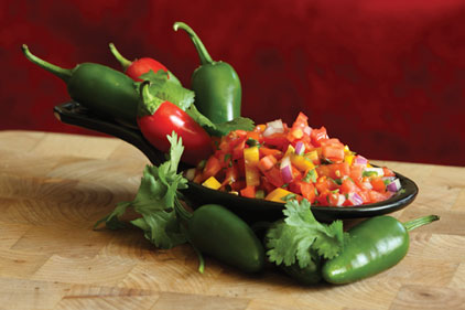 chili peppers, spicy salsa, spicy dish