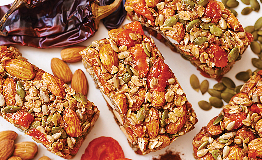 Sliced almonds lend a chewy texture to bars