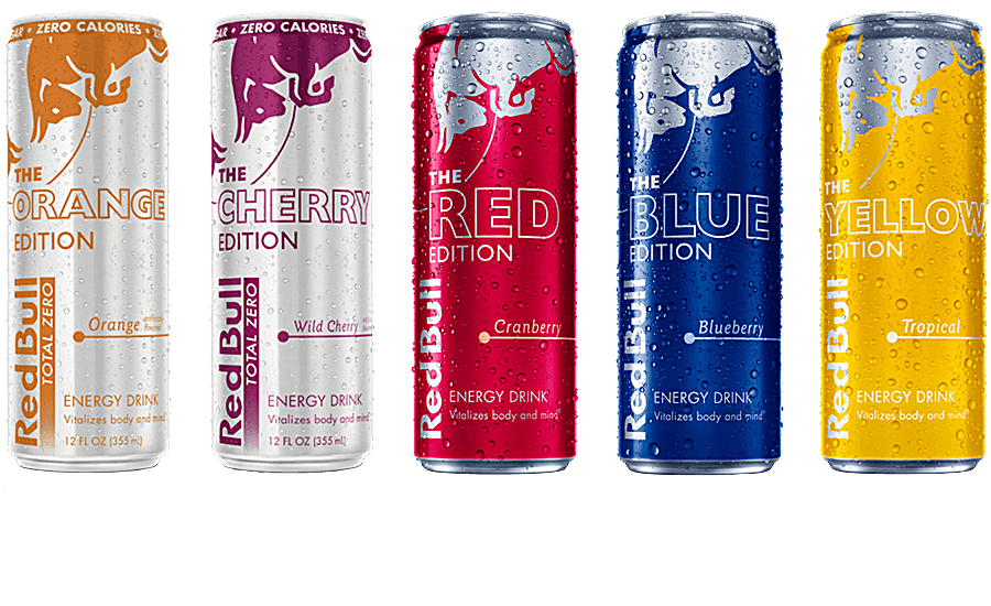 Red Bull Energy Drinks zero calorie editions