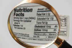 partially hydrogenated oil, nutrition label