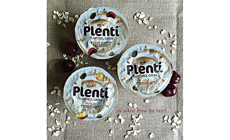 Seeds are prominent inclusions in the new line of Yoplait Greek Yogurt
